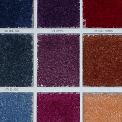 plush carpet samples